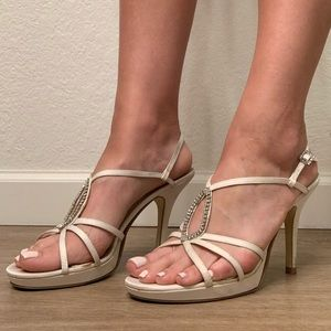 Strappy Sandals with Rhinestones